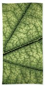 Green Leaf Texture Bath Towel