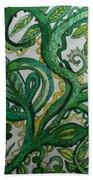 Green Meditation Hand Towel