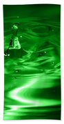 Green Multi Colored Water Drop Bubbling Bath Towel
