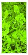Green Tango Rhythms Bath Towel