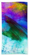 Green Wave - Vibrant Artwork Bath Towel