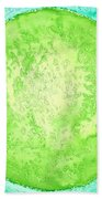 Green World Original Painting Bath Towel