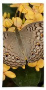 Grey Pansy Butterfly Arizona Bath Towel