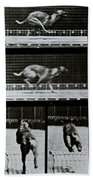Greyhound Running Bath Towel