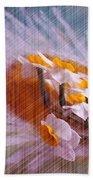 Grid Above Flowers Bath Towel