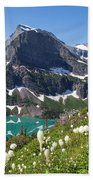 Grinnell Lake With Beargrass Bath Towel