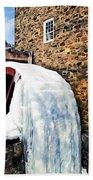 Grist Mill In Winter Bath Towel