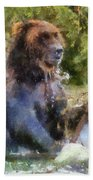 Grizzly Bear Photo Art 02 Bath Towel