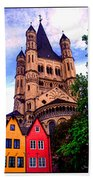 Gross St. Martin In Cologne Germany Bath Towel