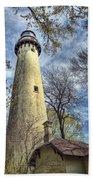 Grosse Point Lighthouse Color Bath Towel