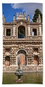 Grotesque Gallery In Real Alcazar Of Seville Hand Towel