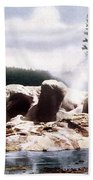Grotto Geyser Yellowstone Np Bath Towel