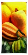 Group Of Gourds Bath Towel