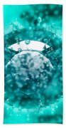 Group Of H5n1 Virus With Glassy View Bath Towel