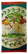Grunge Belize Flag  Bath Towel