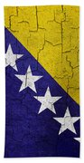 Grunge Bosnia And Hertzegoniva Flag Bath Towel