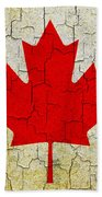 Grunge Canada Flag Bath Towel