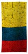 Grunge Colombia Flag Bath Towel