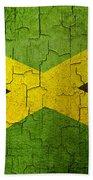 Grunge Jamaica Flag Bath Towel