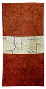 Grunge Latvia Flag Bath Towel