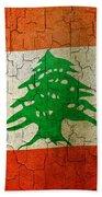 Grunge Lebanon Flag Bath Towel