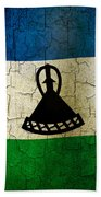 Grunge Lesotho Flag Bath Towel