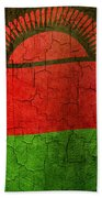 Grunge Malawi Flag Bath Towel