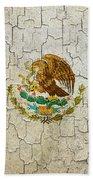 Grunge Mexico Flag Bath Towel
