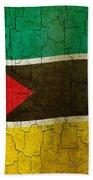 Grunge Mozambique Flag Bath Towel