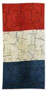 Grunge Netherlands Flag Bath Towel