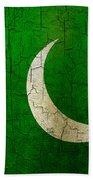 Grunge Pakistan Flag Bath Towel