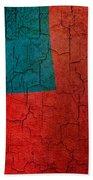 Grunge Samoa Flag Bath Towel
