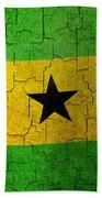 Grunge Sao Tome And Principe Flag Bath Towel