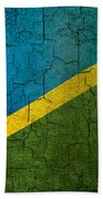 Grunge Solomon Islands Flag Bath Towel