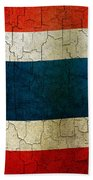 Grunge Thailand Flag Bath Towel