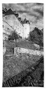 Gruyeres Castle Bw Bath Towel