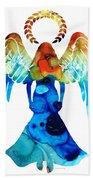 Guardian Angel - Spiritual Art Painting Hand Towel