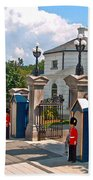 Guards At Queen's Gate In Ottawa-on Bath Towel