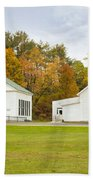 Guildhall Village Historic District In Autumn Vermont Bath Towel