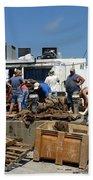 Gulf Coast Oyster Industry Bath Towel