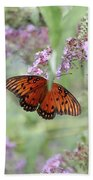 Gulf Fritillary Agraulis Vanillae-featured In Nature Photography-wildlife-newbies-comf Art Groups  Bath Towel