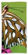 Gulf Fritillary Butterfly Agraulis Bath Towel
