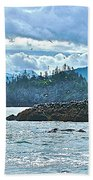 Gull Island Rookeries In Kachemak Bay-alaska Bath Towel