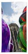 Gummy Bears In Paris Bath Towel
