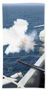 Gunners Mates Test Fire The Ships Bath Towel