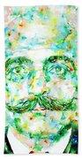 Gurdjieff- Watercolor Portrait Bath Towel