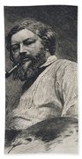 Gustave Courbet Bath Towel