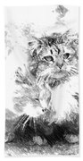 Gutter Kitties Six Bath Towel