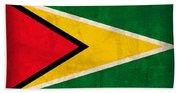 Guyana Flag Vintage Distressed Finish Hand Towel