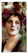 Gypsy Girl Of Autumn Vintage Bath Towel
